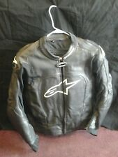 alpinestars MX-1 black leather jacket 44