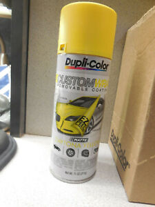 Case of 6 aerosol can of dupli color custom wrap daytona yellow