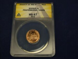 """2009-D MS-67 RED Lincoln Bicentennial Cent  """"Professional Life in Illinois"""""""