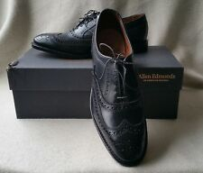 New Allen Edmonds First McAllister 9B Black Leather Brogue Wingtip Oxford Mens