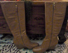 VIA SPIGA BUTTER SOFT LEATHER KNEE HIGH WEDGE BOOTS 8.5M - NOT WRINKLED
