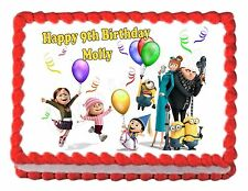 DESPICABLE ME 2  party edible cake image decoration cake topper frosting sheet