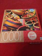 Baskets - Milton Bradley 1000 Piece Premium Quality Blue Board Jigsaw Puzzle New