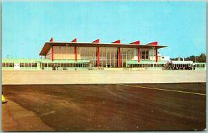 "Warwick, Rhode Island Postcard Green State Airport ""New Air Terminal Building"""