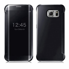 Black Mirror Smart Clear View Window Flip Case Cover Samsung Galaxy S7