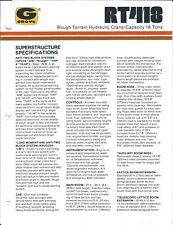 Equipment Brochure - Grove - Rt418 - Rough-Terrain Hydraulic Crane c1986 (E4043)