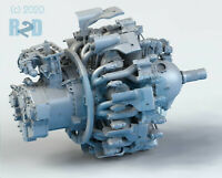 1/32 Detailed High-Resolution 3D Printed Resin R-2800 Radial Engine Kit