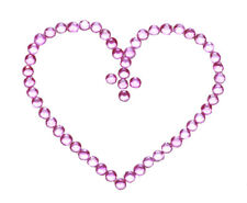 Glam up - Hot Pink Diamanté Hearts Easy Stick on Belly Tattoo/ Body Jewel(Zx149)