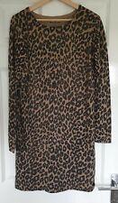 Oasis Metallic Leopard Print Dress, Medium
