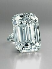 5.00 ct Engagement Ring 925 Sterling silver Jewelry Emerald Cut Solitaire Ring