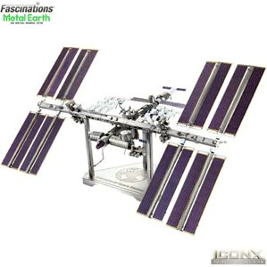 Metal Earth ICONX International Space Station ISS 3D DIY Model Building Kit