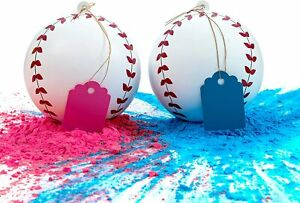 Gender Reveal Baseball - Pink and Blue Kit (Options)
