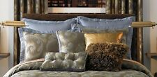 Two 2 Candice Olson Mirage Blue Euro Pillow Shams NEW $140