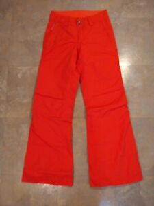 EUC women's THE NORTH FACE HYVENT redISH/orange INSULATED snow pants - SIZE XS