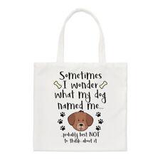 A volte mi chiedo cosa il mio cane di nome ME Small Tote Bag-divertente cucciolo spalla