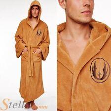 Oficial para adulto Star Wars Jedi Polar Suave Capucha Marrón Albornoz Bata