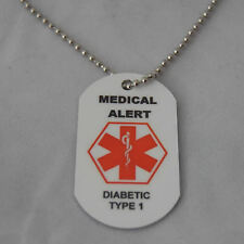 Medical Alert Necklace for Diabetic type 1