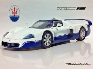 Maserati MC12 White Color 2-door Targa Top Diecast Model Car 1:43 Scale (2004)