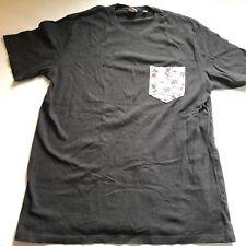 Junk Food Disney Mickey Mouse Palm Tree Pocket Black T-Shirt Mens Sz L A463