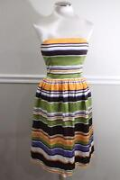Milly of New York Women's Striped Strapless Dress SIZE 8 (DR1000