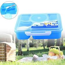 PlastOR MORrowave Bento Lunch Box + Spoon Utensils PORnOR Container Sets Blue OR