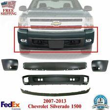 Front Bumper Primedcovervalanceend Cap Kit For 2007 2013 Chevy Silverado 1500 Fits 2013 Silverado 1500