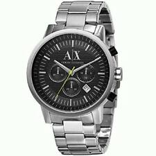 Armani Exchange AX2063 Chronograph Date Silver-tone Stainless Steel Mens Watch