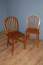 Delightful Vintage Pair of Stick Back Kitchen Dining Chairs