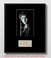 Mary Pickford Matted Autograph & Photo! Coquette! Silent Films! Hollywood Icon!