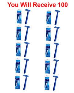 100-Pack Super Max Men's Disposable Razors Twin Blade Shavers Bulk Wholesale