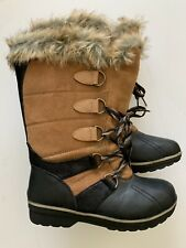 Snow Boots,Rugged Outback,Woman Size 7 Cozy Lined & Warm,Black