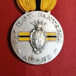 Medaglia militare. 17 RGM ACQUI. ARGENTO