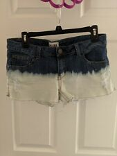 Mudd Size 11 Jean Shorts With Bleached Design