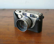 Mr. Zhou Black Leather Half Case for Contax G2 Camera