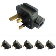 5 x BG Permaplug 13A Hard Rubber Heavy Duty Plug 13A Fused