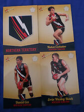 2013 SELECT FUTURE FORCE CARDS U/18 CHAMPIONSHIPS NORTHERN TERRITORY SET (4)