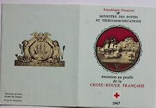 CARNET DE 8 TIMBRES - EMISSION AU PROFIT DE LA CROIX-ROUGE FRANCAISE - 1967