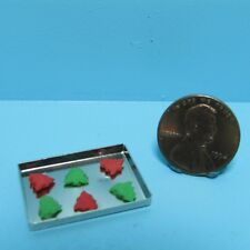Dollhouse Miniature Red & Green Christmas Tree Cookies on Sheet ~ MUL5358F