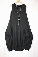 Moonshine Kleid Ballonkleid  Gr 42 44 46 Lagenlook Taschen Schwarz  Neu