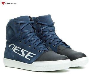 Shoes Motorcycle Waterproof Dainese York D-Wp Blue