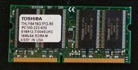 TOSHIBA PC100 THLY6416G1FG-80 64MB 100MHZ MEMORY