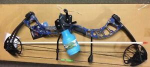 PSE D3 BLUE Bowfishing Compound Bow, REEL REST FINGERS ARROW