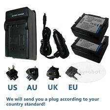 2pcs Battery+Charger for HITACHI DZ-BP07PW DZ-GX3100E DZ-HS300E DZ-HS500E