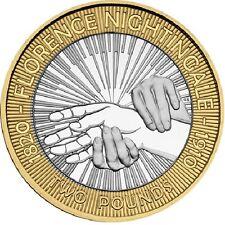 2010 £2 FLORENCE NIGHTINGALE 150 NURSING TWO POUND COIN HUNT 20/32 RARE 2 zz