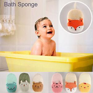 Baby Kids Newborn Bath Bathup Brush Soft Pure Cotton Bath Foam Rub Shower Sponge