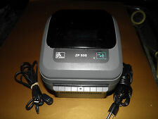 Zebra ZP 500  Direct Thermal Label Printer Power and Serial and USB only
