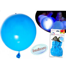 5 Palloncini Luminosi Diamentro 30 cm Colore Blu Per Eventi Festa Balloon Party
