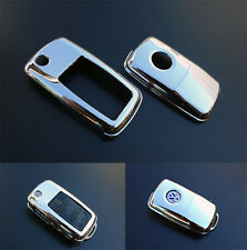 CHROME VW Car Remote Flip Key Cover Case Skin Shell Cap Fob Protection ABS -09