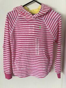 Polo Ralph Lauren's Girls Stripe Hood Jumper Top size 7