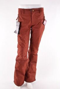 NWT WOMENS 686 AFTER DARK SNOWBOARD PANTS $200 S rusty red